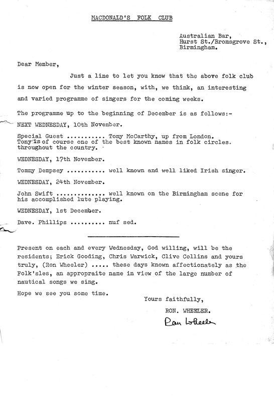 Australian Bar Newsletter Nov 1965