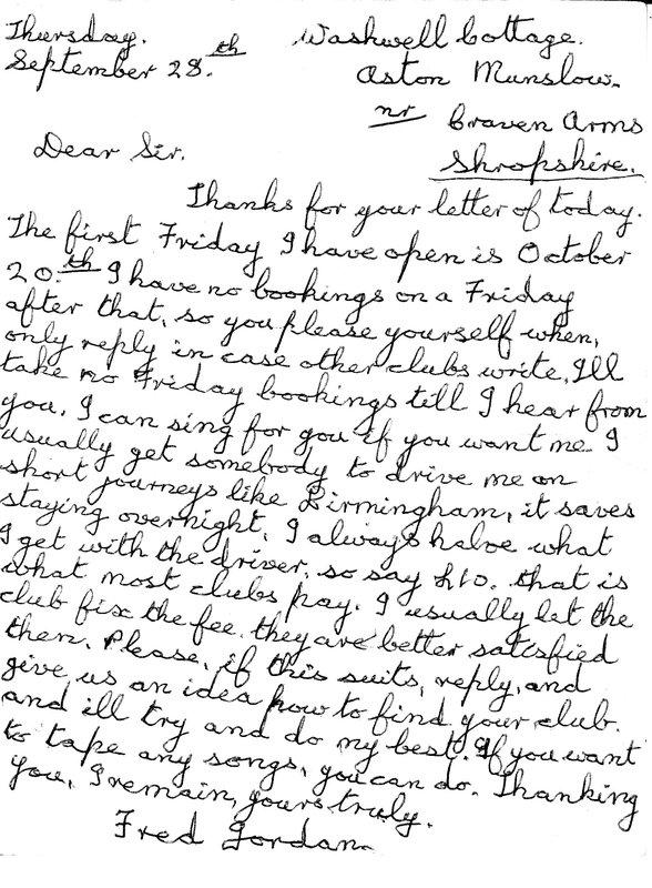 Fred Jordan Letter Sept 1967